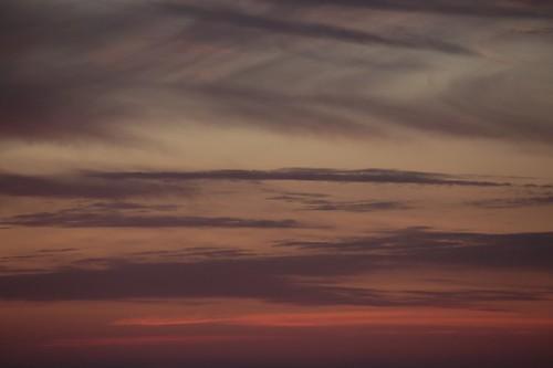Il tramonto dalla spiaggia