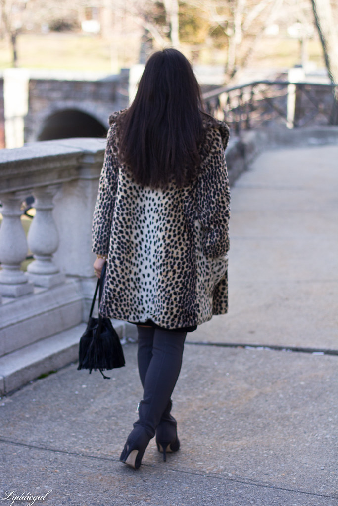 Black skirt, black top, leopard fur coat, over the knee boots-7.jpg