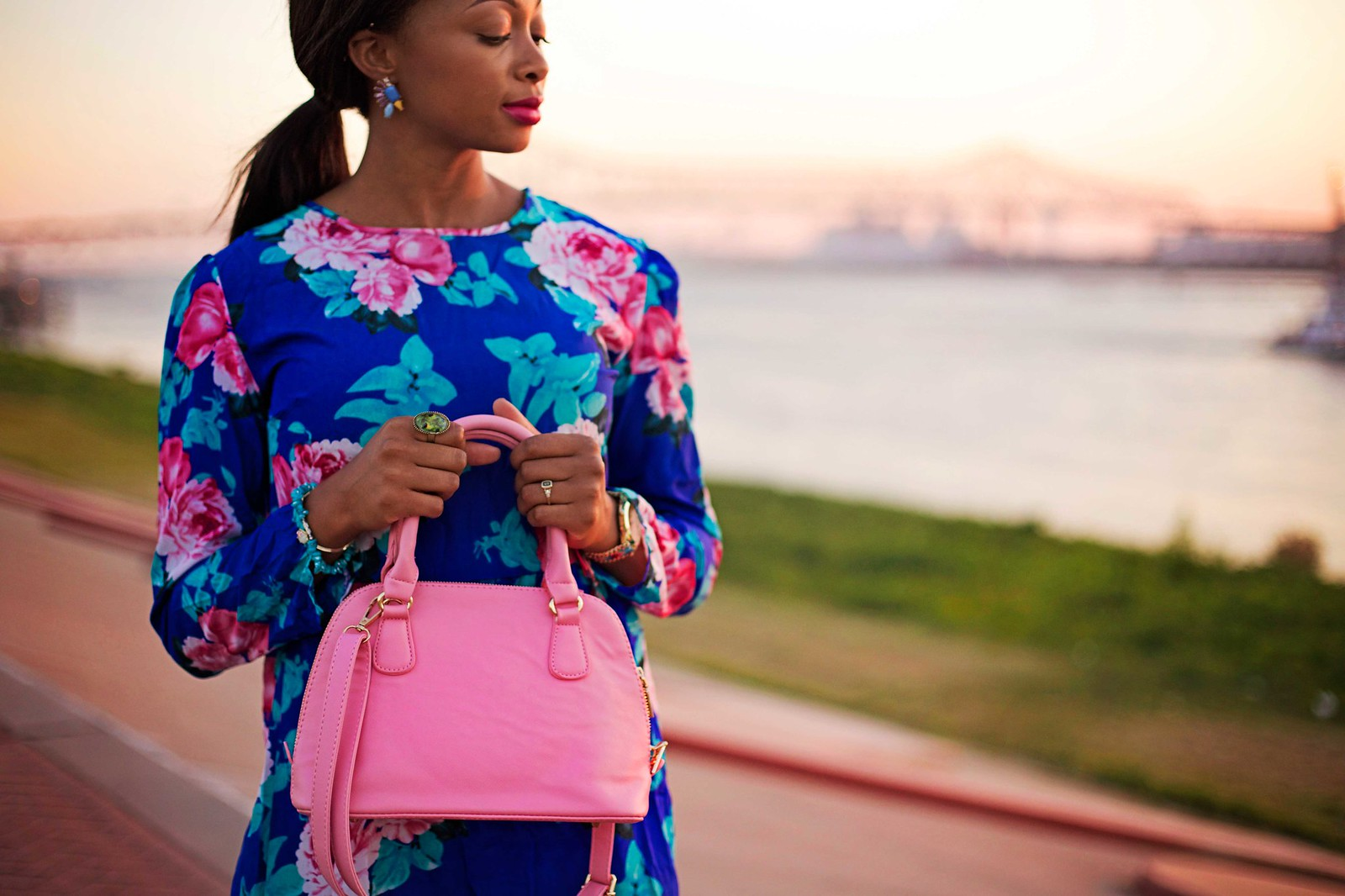 pink handbag prada inspired bag the beauty beau