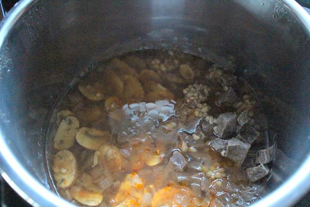 Beef Barley Mushroom Stew With Sour Cream