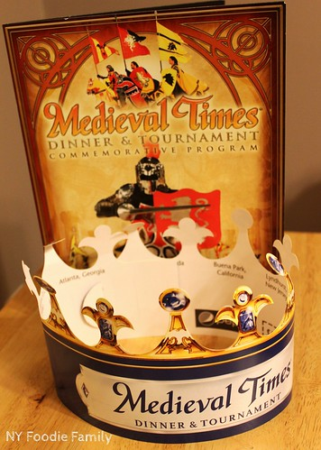 Medieval Times Program and Crown