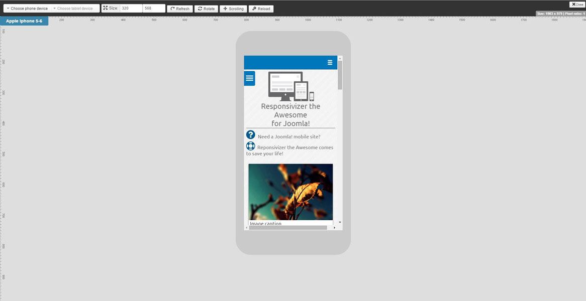 Responsivizer – adaptive design for your website