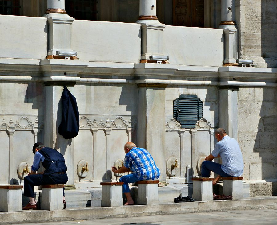 Blue Mosque Washing Ritual