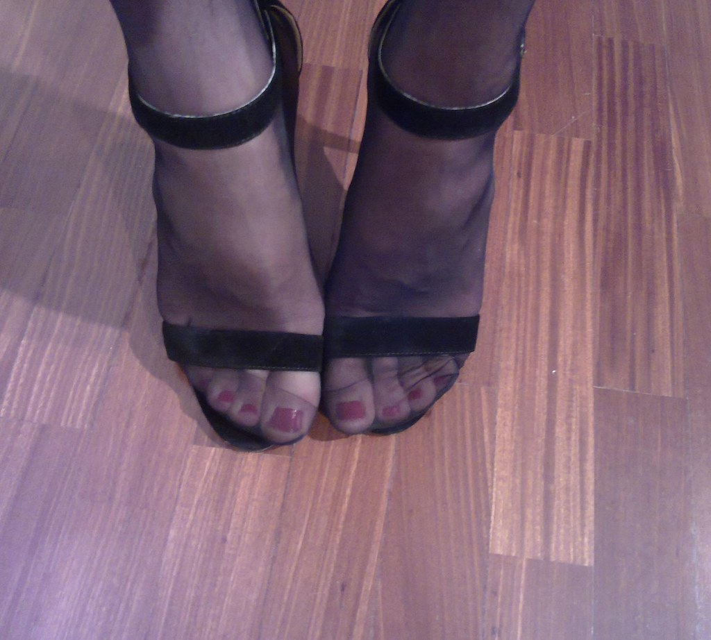Something is. Sandal with pantyhose simply excellent