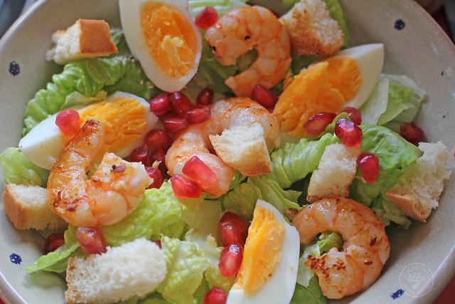 Ensalada Cesar con langostinos www.cocinandoentreolivos.com (17)