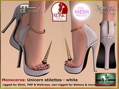 Bliensen - Monoceros - Unicorn stilettos - white Kopie