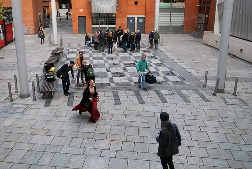 The Square by the Gallery of Photography in Dublin, Ireland