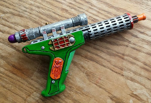 Custom-made resin blaster. A hade-made birthday gift to Asher from Sandy. It's his first toy gun.