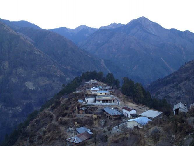 Sankri Village - During Kedarkantha Summit 2016 in Winter , Uttrakhand, India