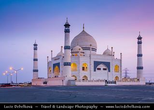 Kuwait - Dahiya Abdullah Mubarak - Siddiqua Fatima Zahra Mosque - Sadeeqa Fatimatul Zahra Masjid at Dusk