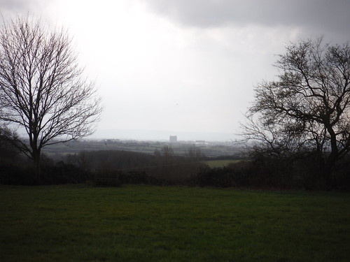 Aylesbury with Bucks County Council building, from Aston Abbotts