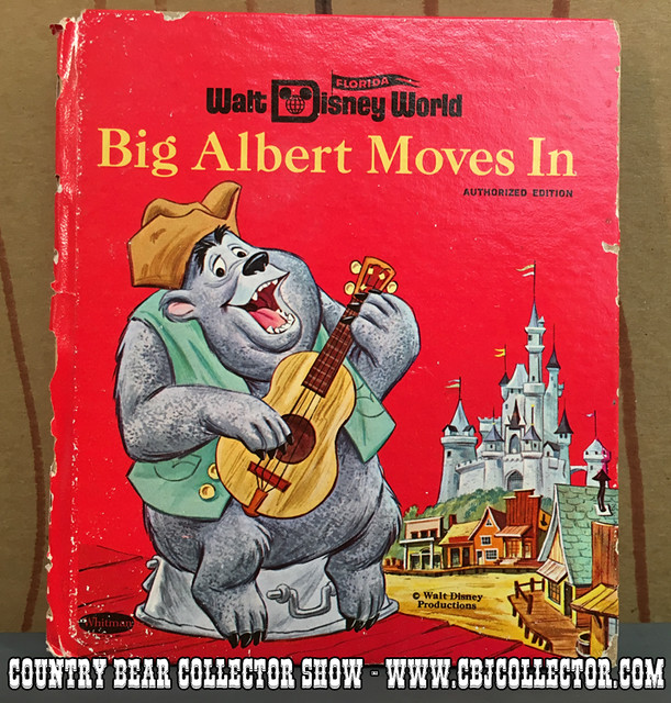 1971 Walt Disney World Whitman Tell-A-Tale Big Al Moves In Book - Country Bear Jamboree Collector Show #033