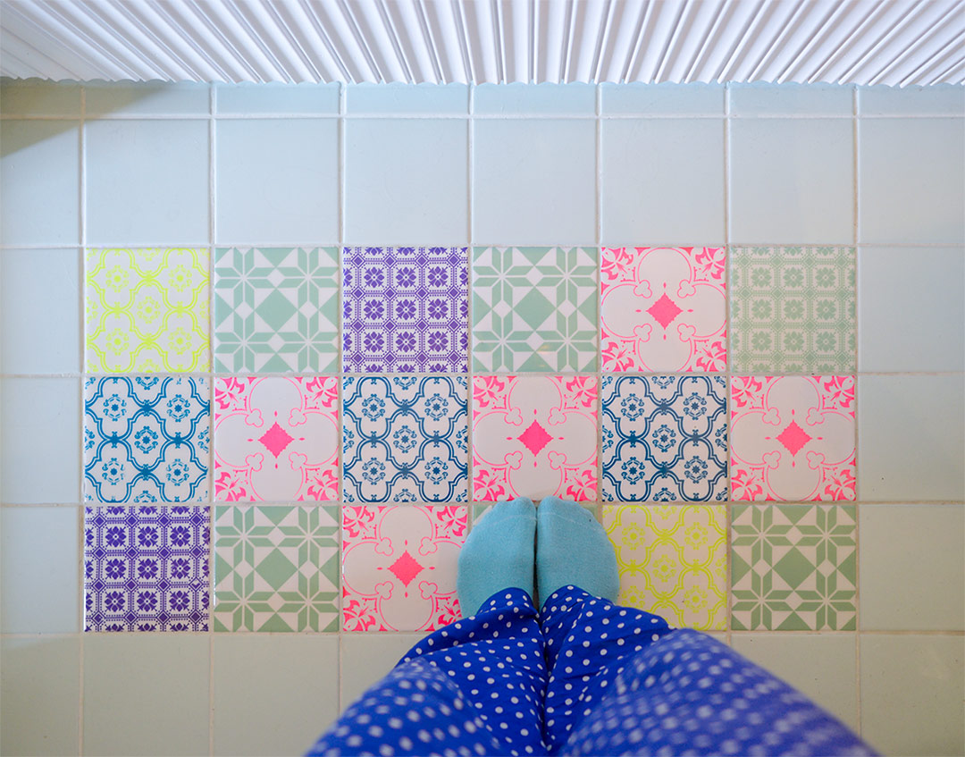 Beautiful pastel colored tiles by ARTTILES
