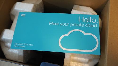 เปิดกล่องมา ก็โดนทักทายเลยว่า ยินดีต้อนรับสู่คลาวด์ส่วนตัว