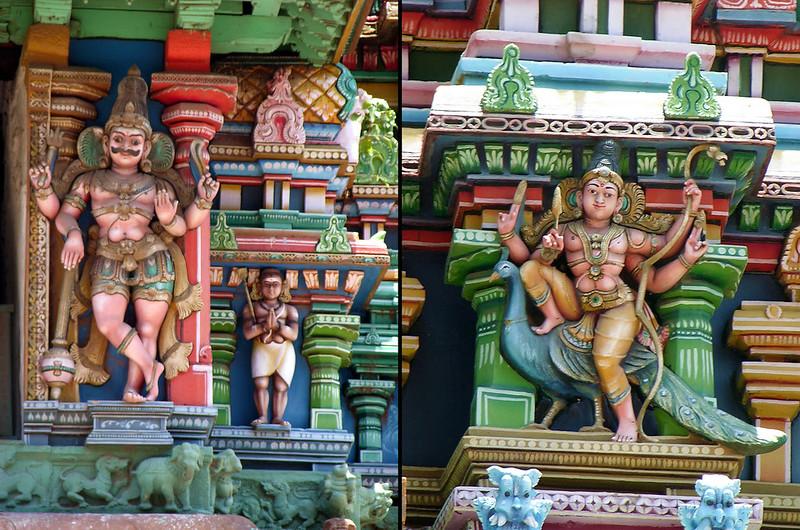 Detalle del Templo de Sri Meenakshi