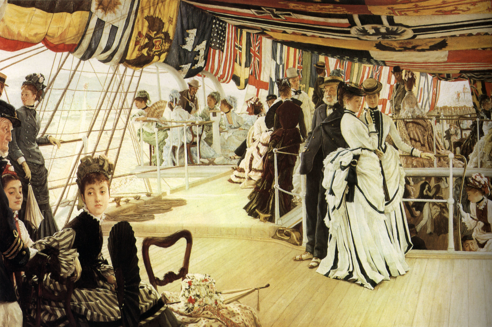 The Ball on Shipboard by James Tissot, 1874