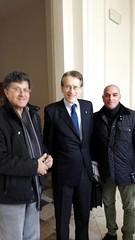 Durante l'incontro con il prof. Giulio Terzi di SantAgata Ambasciatore italiano negli Stati Uniti D'America già Ministro degli Esteri della Repubblica italiana
