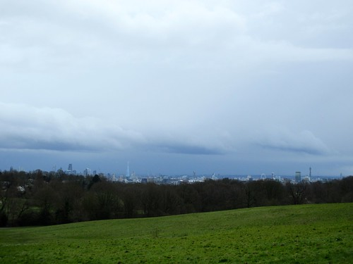 Distant View of Central London From Hampstead Heath