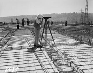 First Avenue South Bridge under construction, 1955