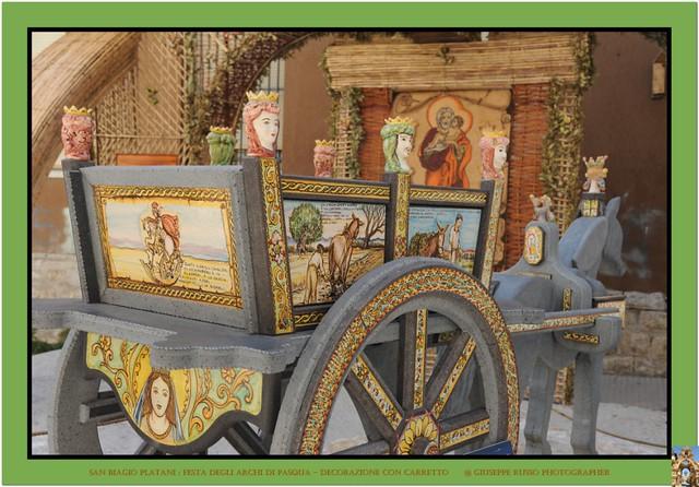 FESTA DEGLI ARCHI DI PASQUA DI SAN BIAGIO PLATANI (AGRIGENTO) - Carretto (decorazione)