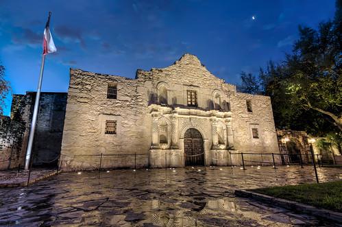 moon architecture sanantonio texas tx flag historic mission alamo thealamo