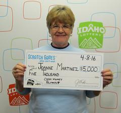 Alice (Joanne) Martinez (Glenns Ferry, ID) - $5,000 Cash Money Blowout
