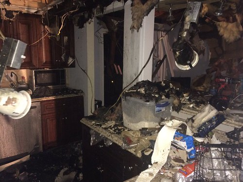 photos from Tilford Court House Fire showing damage to home