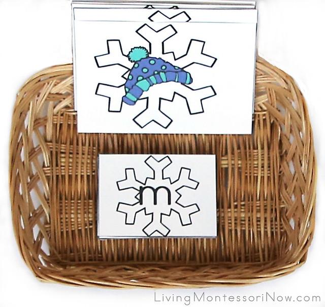 Snowflake CVC Spelling Basket