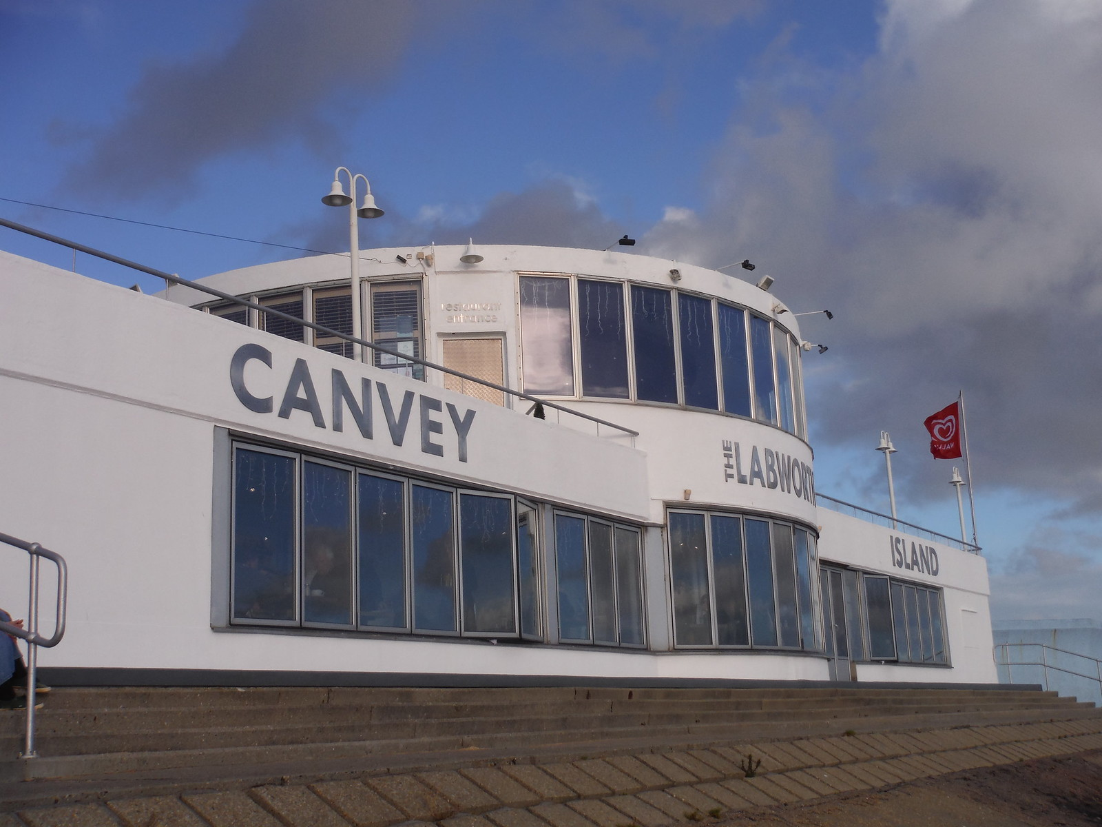 The Labworth Restaurant and Beach Bistro (viewed from the west), Canvey Island SWC Walk 258 Benfleet Circular (via Canvey Island)
