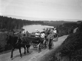 Søndagstur på landet ca. 1910