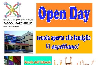 Noicattaro. Open Day Pascoli-Parchitello 2016 front