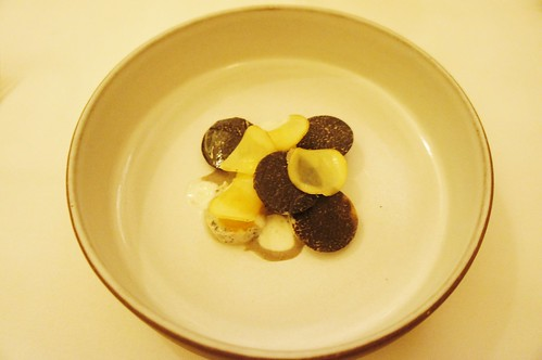 1st Course: Potato and Black Truffle