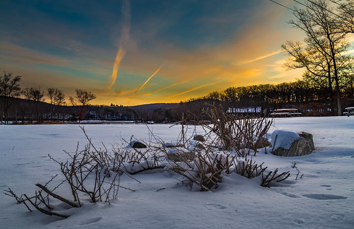 city morning winter sky orange snow newyork color ice nature colors weather clouds sunrise landscape frozen us unitedstates hike harriman 2016 rocklandcounty southfields harrimanpark