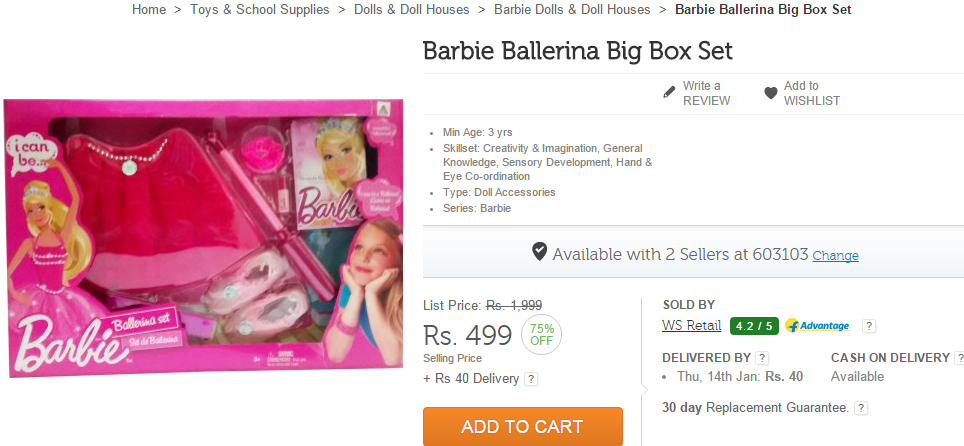 Barbie Dolls Flipkart