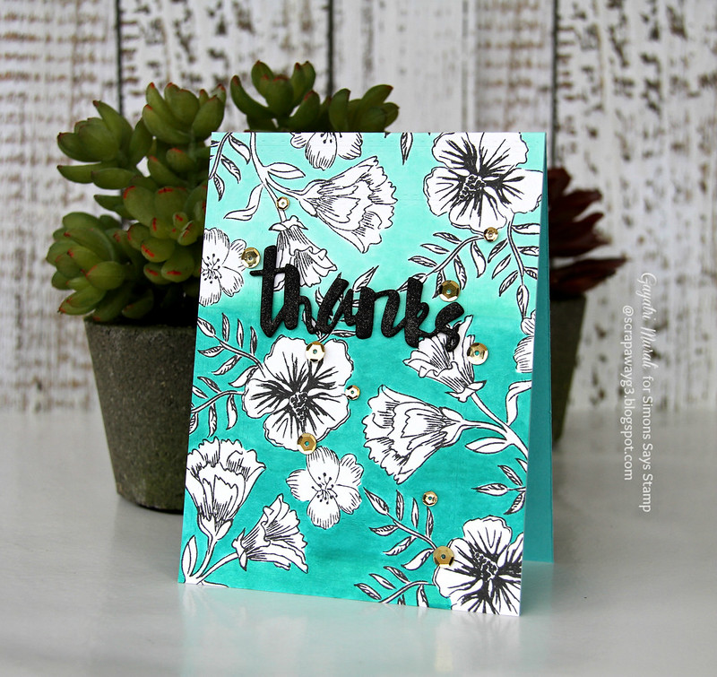 Thanks Ombre card #1