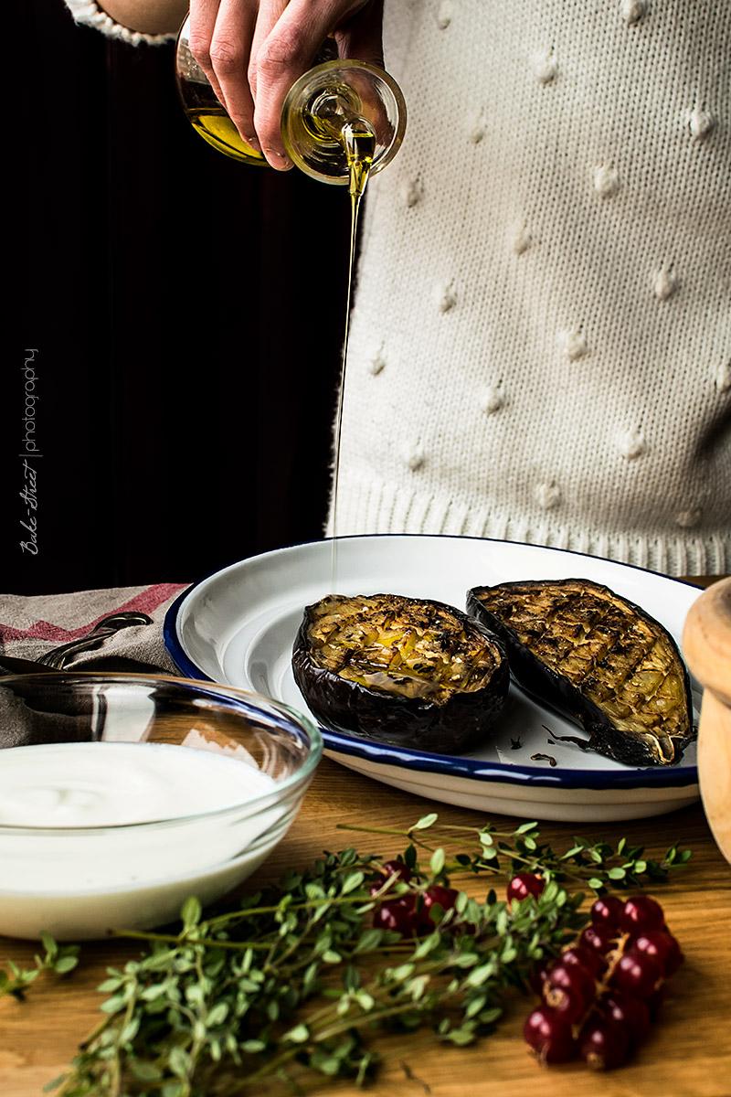 Berenjenas con salsa de buttermilk