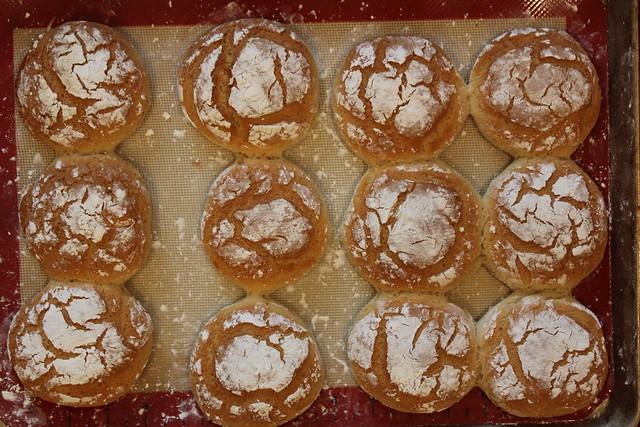 Bake rolls for 25-30 minutes until golden brown.
