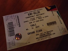 Just the ticket... Henry Rollins, Vicar Street, Dublin