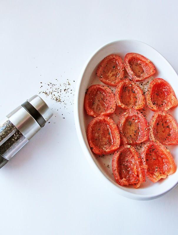 Tomato Pesto Gratin