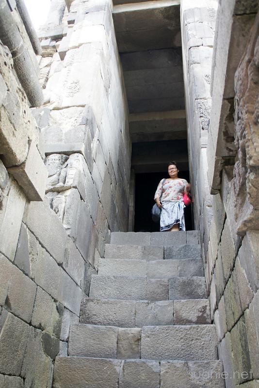 Prambanan, Yogyakarta - up the old stairs
