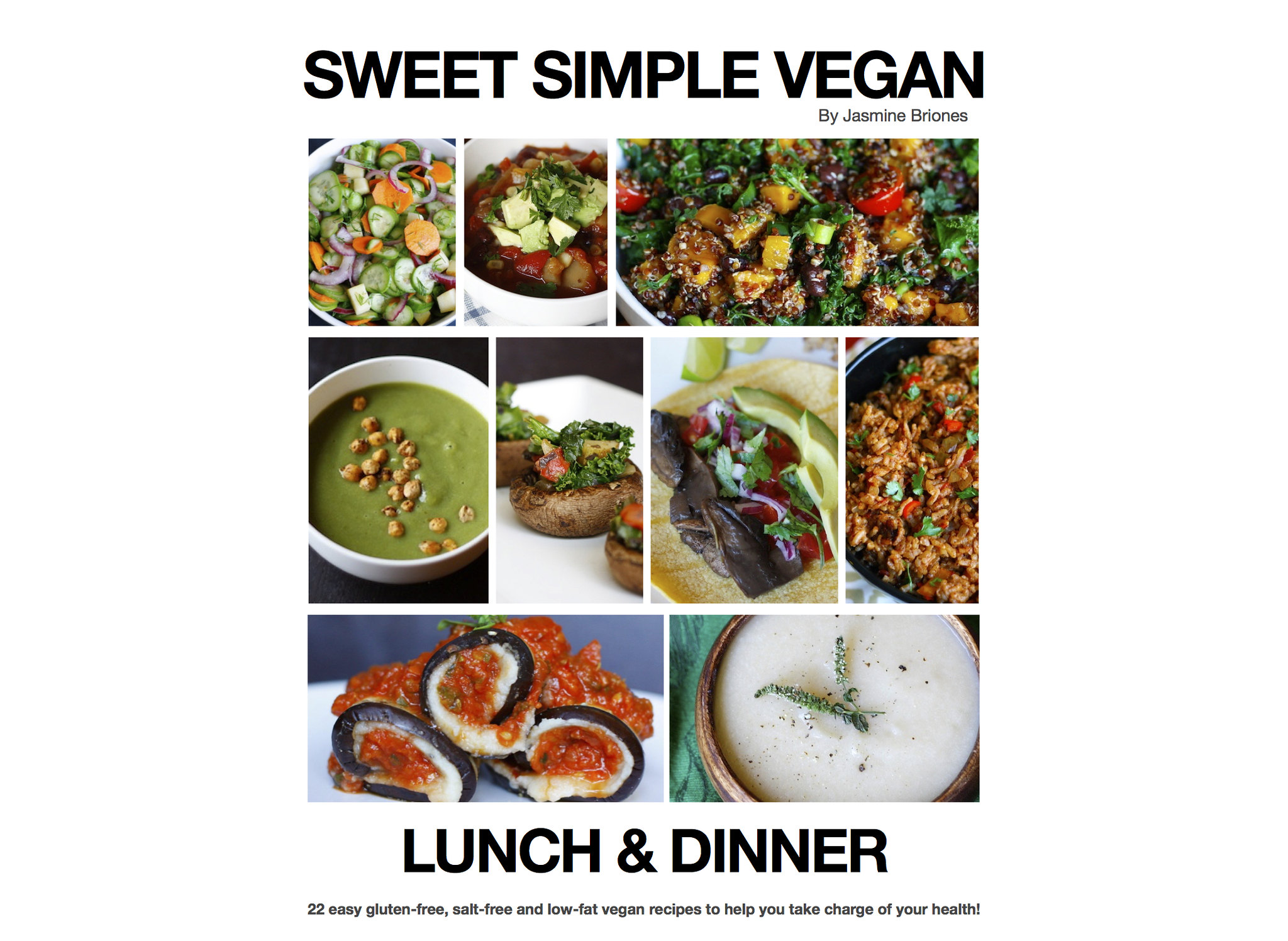 Healthy Low-Fat Vegan Lunch & Dinner Ebook sweetsimplevegan.com