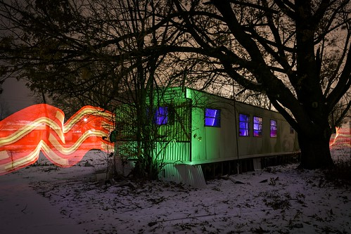 Notley Hawkins Photography, Columbia MO Photo, Night Photography, Light Ribbon, Ed's Trailer Park, Light Painting, Pixelstick