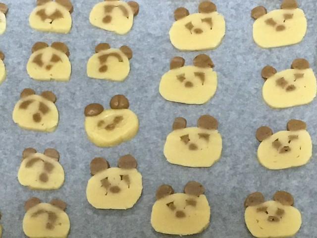 切片完畢@辣媽Shania麵包機熊貓餅乾
