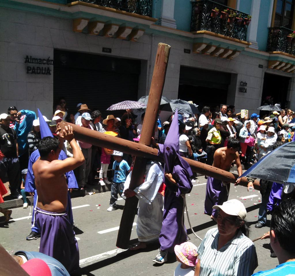 Easter Procession in Quito Ecuador