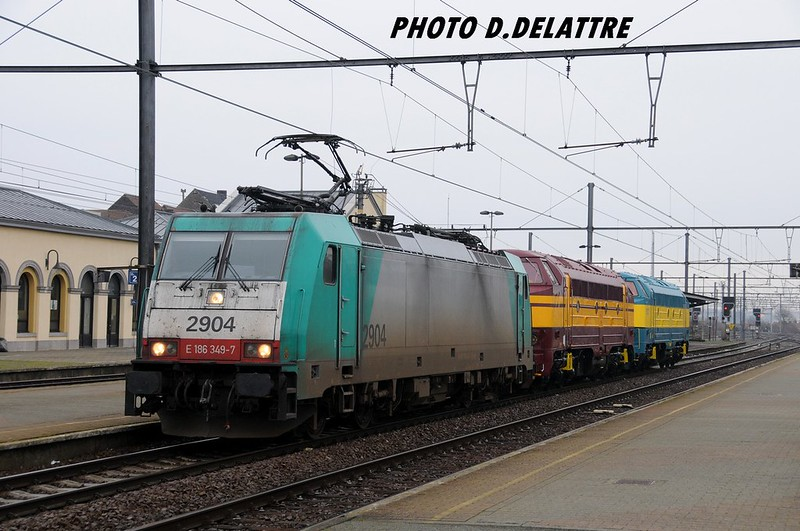 Bombardier 34484 - TRAXX F140 MS - 'E 186 349' - SNCB-NMBS '2904' / Mouscron