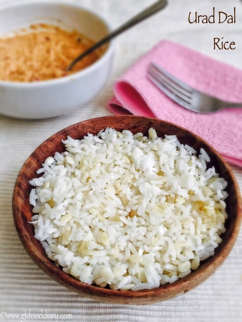 Urad Dal Rice Recipe for Babies, Toddlers and Kids2