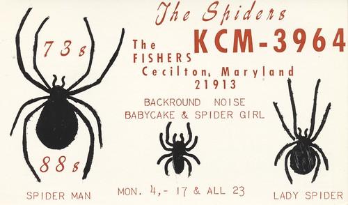 vintage spider maryland spelling qsl cb cbradio qslcard cecilton