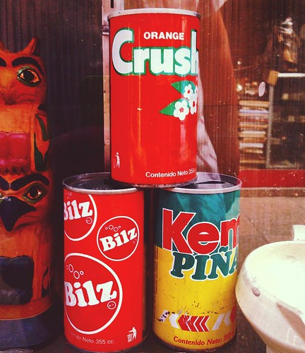 Latas vintage Chile - Orange Crush, Bilz, Kem Piña