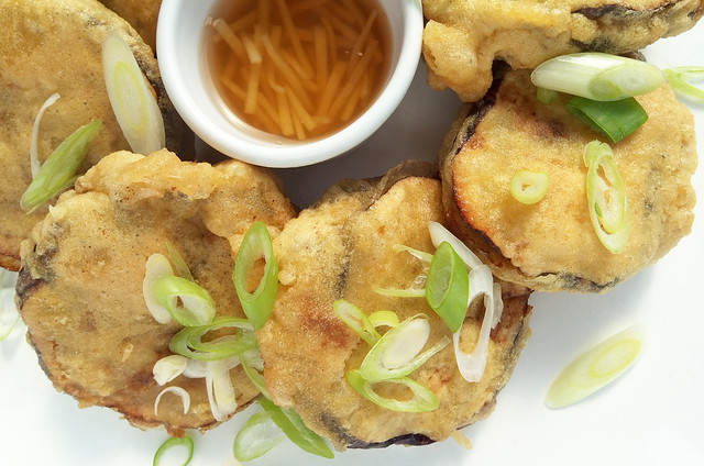 Stuffed Eggplant Fritters