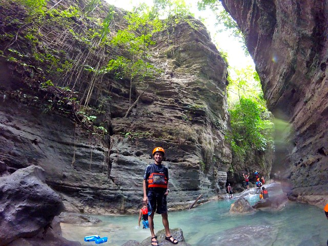 marxtermind at Matutinao River for Canyoneering